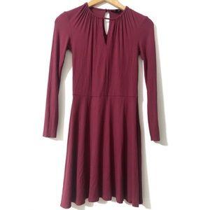 TOPSHOP Ribbed Knit Longsleeve A-line Dress size 2